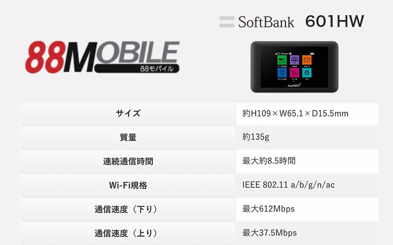 SoftBank 601HWの基本情報